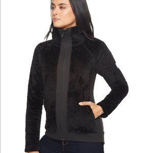 North Face Black Furry Fleece Full Zip Jacket